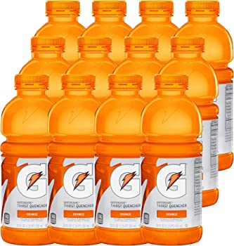 12 Count Gatorade Thirst Quencher, Orange 20 oz Bottles