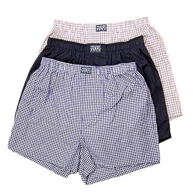 Polo Ralph Lauren Homme 3 tissé à Rayures et à Carreaux en Coton Boxers  Classique, Bleu  Amazon.fr  Vêtements et accessoires 03c4f3383e5f