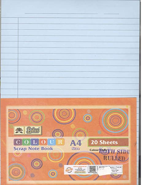 72e7068184e Lotus Ruled Coloured Sheets A4 Size 100 Sheets (Assorted)  Amazon.in   Office Products