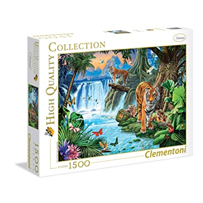"""Clementoni """"Tiger Family Puzzle (1500 Piece): Toys & Games"""