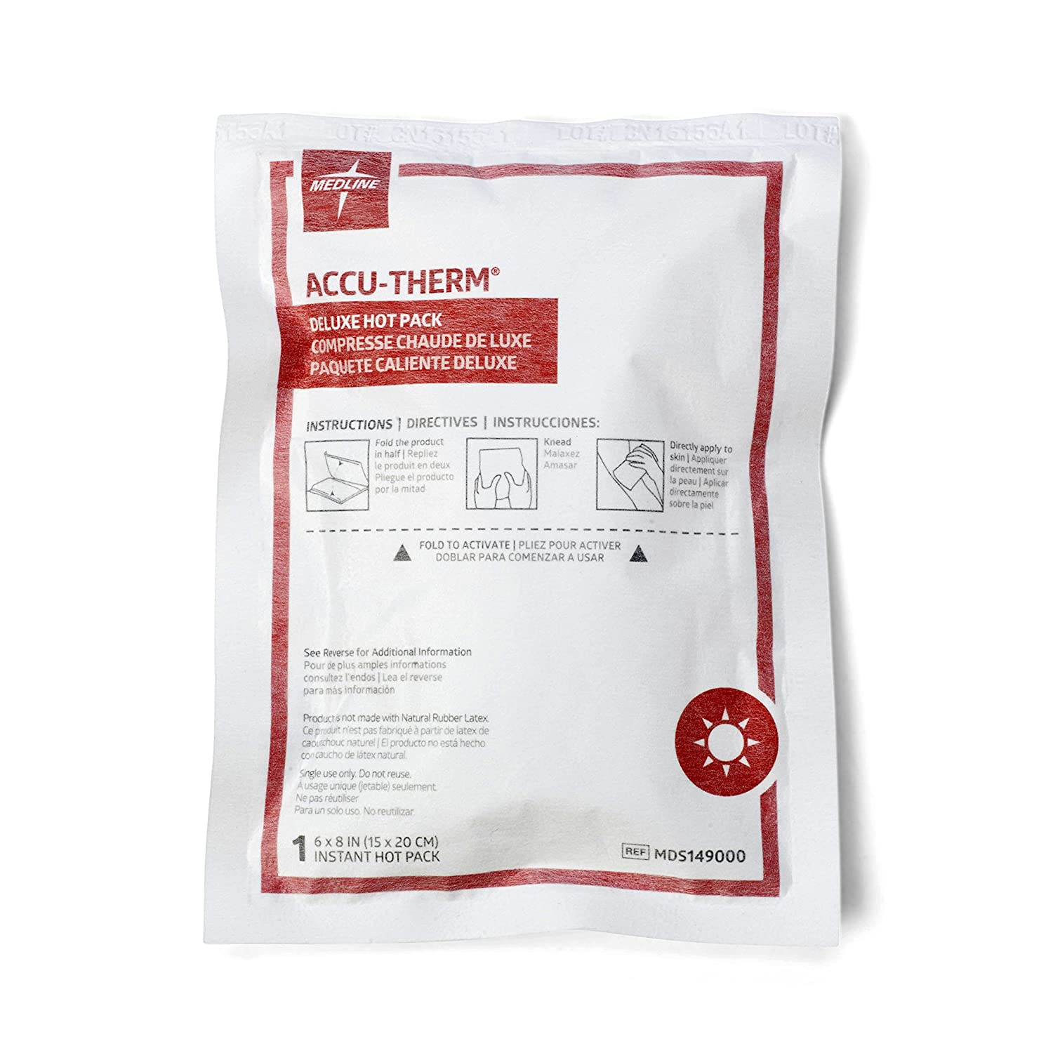 Medline MDS149000 Latex Free Deluxe Instant Hot Compress (Pack of 24)