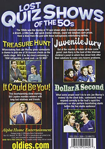 Amazon com: Lost Quiz Shows Of The 50s (Treasure Hunt