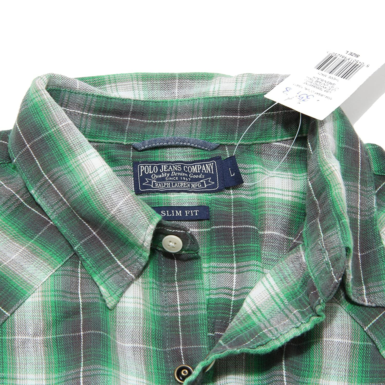 Ralph Lauren - Camisa Casual - para Hombre Verde Large: Amazon.es ...