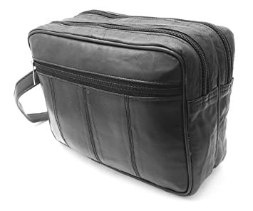 Image Unavailable. Image not available for. Colour  MENS LARGE SOFT GENUINE  LEATHER TOILETRY TRAVEL WASH BAG TRAVEL KIT OVERNIGHT e90e1f4665