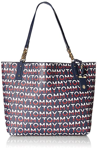 10ff5fce456 Tommy Hilfiger Travel Tote Bag for Women Gabby, Navy Red Multi ...