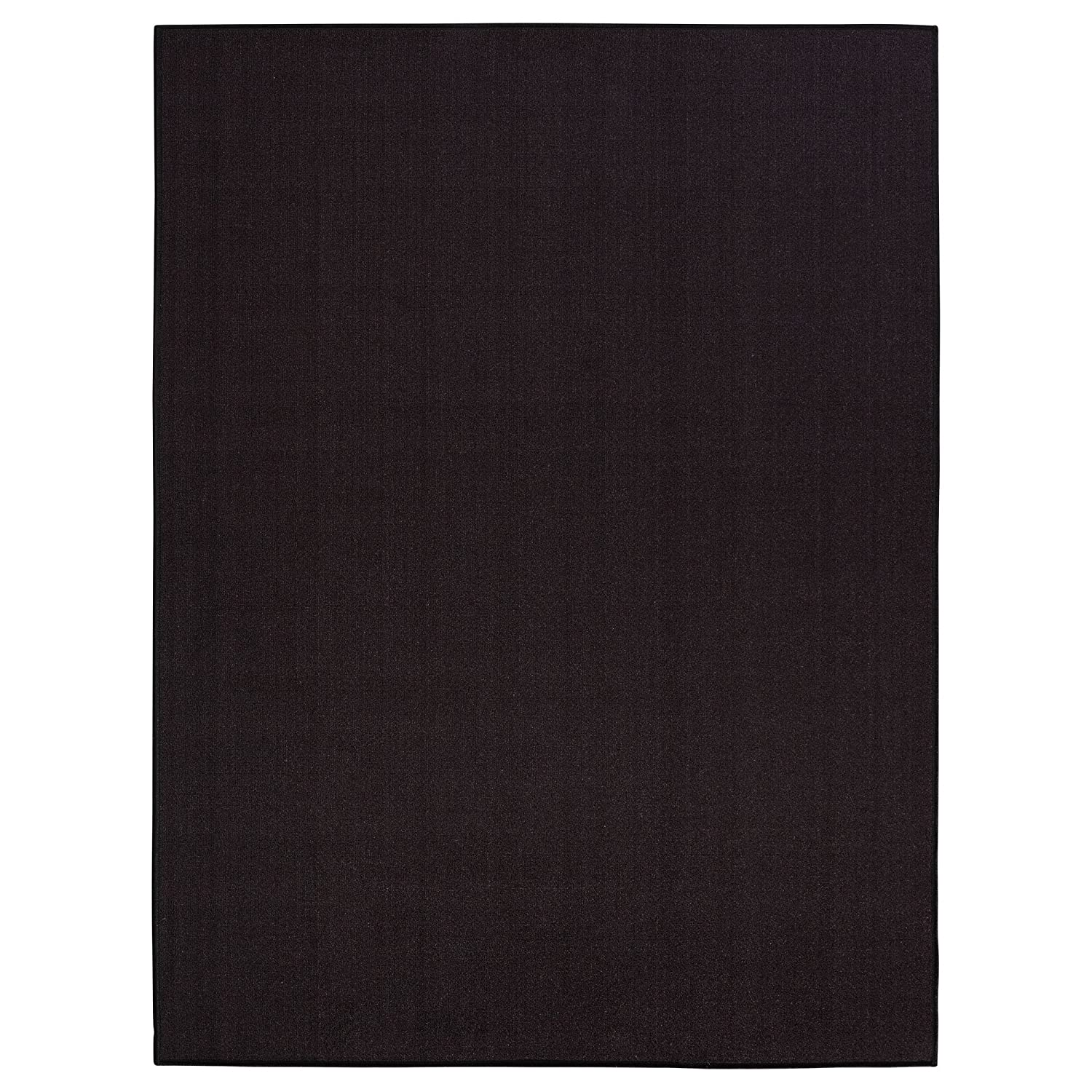 Black Sweet Home Stores Clifton Collection Solid Design Rubberback Runner Rug