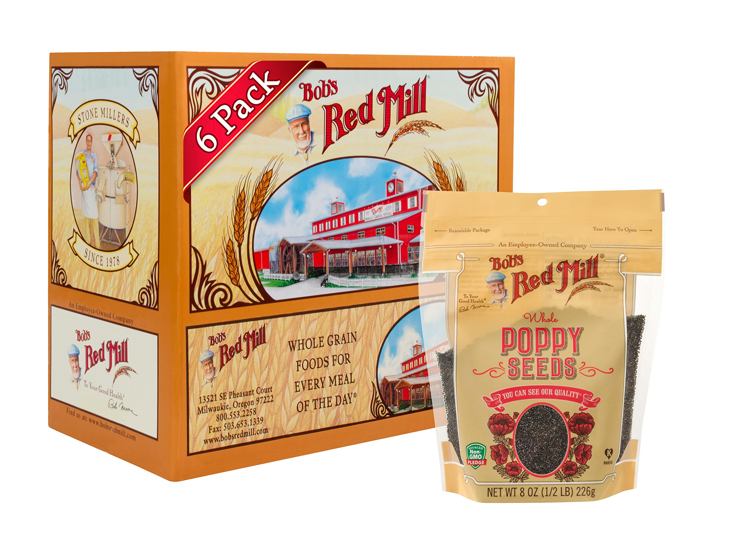 Bob's Red Mill Poppy Seeds, 8-ounce (Pack of 6)
