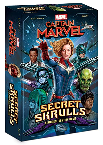 Captain Marvel: Secret Skrulls Card Game | Hidden Identity Game Featuring Marvel Universe Characters | Officially Licensed Avengers Captain Marvel ...