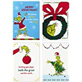 Image Arts Boxed Christmas Cards Assortment, Classic Grinch (4 Designs, 24 Christmas Cards with Envelopes)