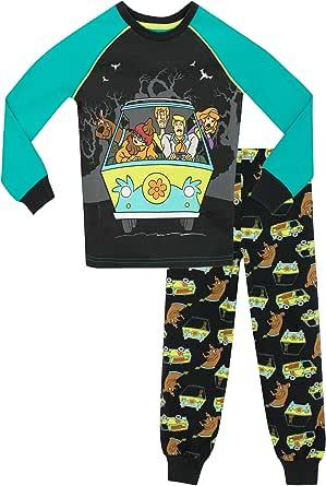 Scooby Doo Pijama para Niños Ajuste Ceñido