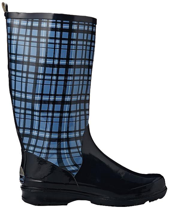 Karo aus Naturkautschuk, Damen Kurzschaft Gummistiefel, Blau (Blau 7), 42 EU (9 Damen UK)Playshoes