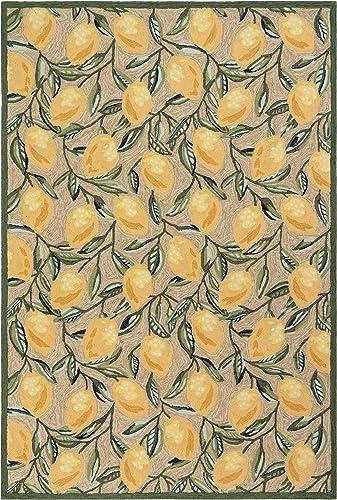 Liora Manne Indoor Outdoor Rug, 8 3 x 11 6 , Lemon Natural