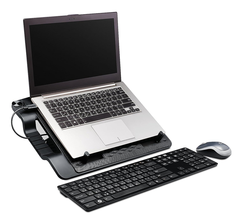 Cooler Master ERGOSTAND III Base di raffreddamento per PC portatili Angolo Regolabile USB Hub Supporta Computer Portatili fino a 17 R9-NBS-E32K-GP