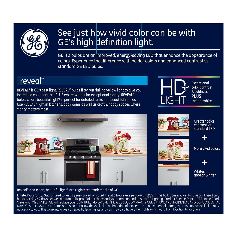 GE Lighting Reveal HD LED 11-watt (65-watt Replacement), 650-Lumen R30 Light Bulb with Medium Base, 2-Pack - - Amazon.com