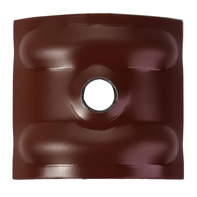 1000 Kalotten blank Aluminium 24/° f/ür Sinus Profil 76//18 Wellplatten Lichtplatten