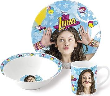 Soy Luna Estuche Regalo Set merienda Ceramica (Cuenco+Plato Postre+Taza) (STOR 46965): Amazon.es: Juguetes y juegos
