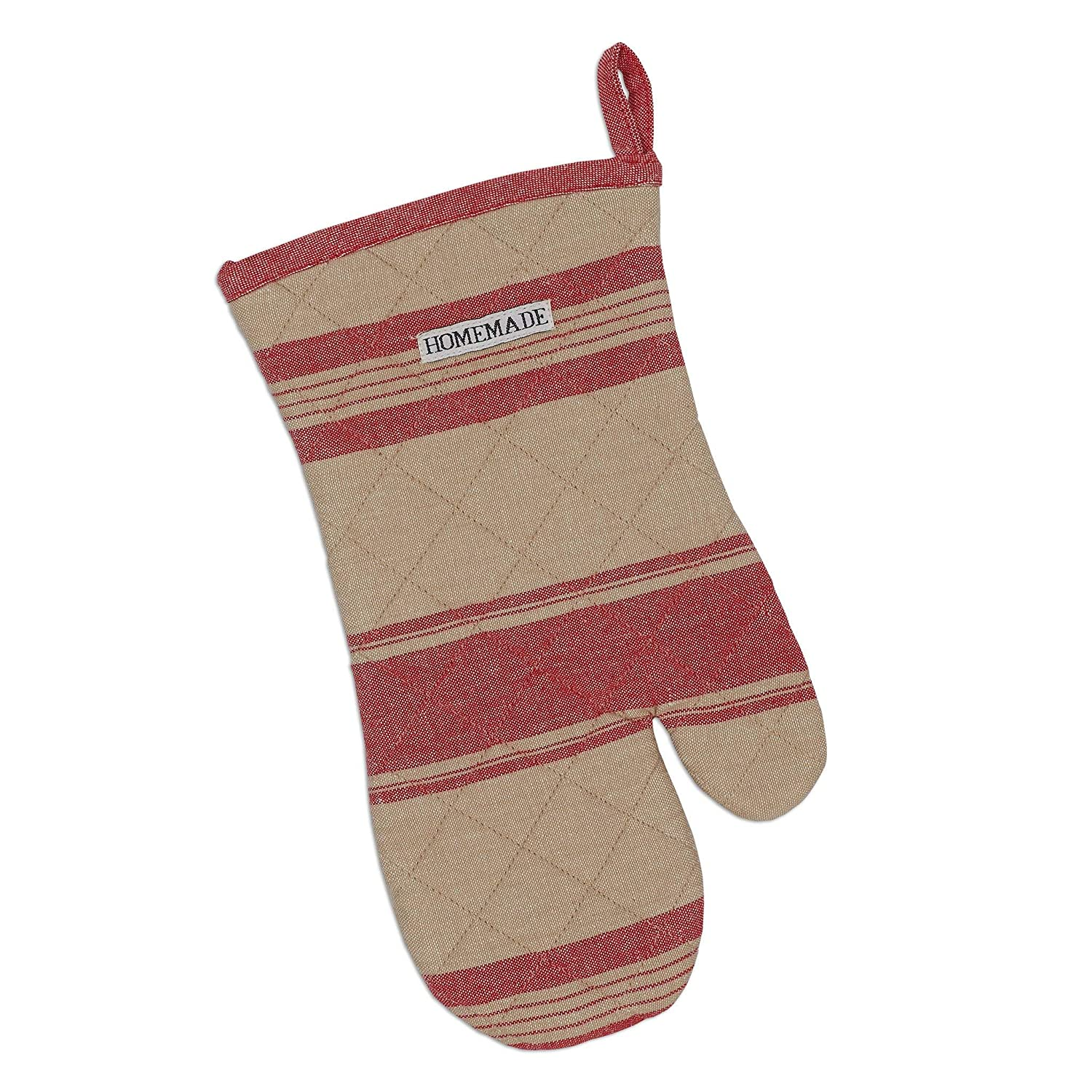 DII Red French Stripe Oven Mitt Multi