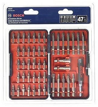 Bosch T4047 multi-size Juego de puntas para destornillador (47 ...