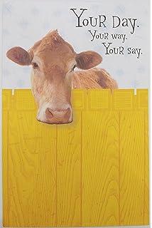 Amazon Com Cafepress Udderly Amazing Funny Cow Greeting Card