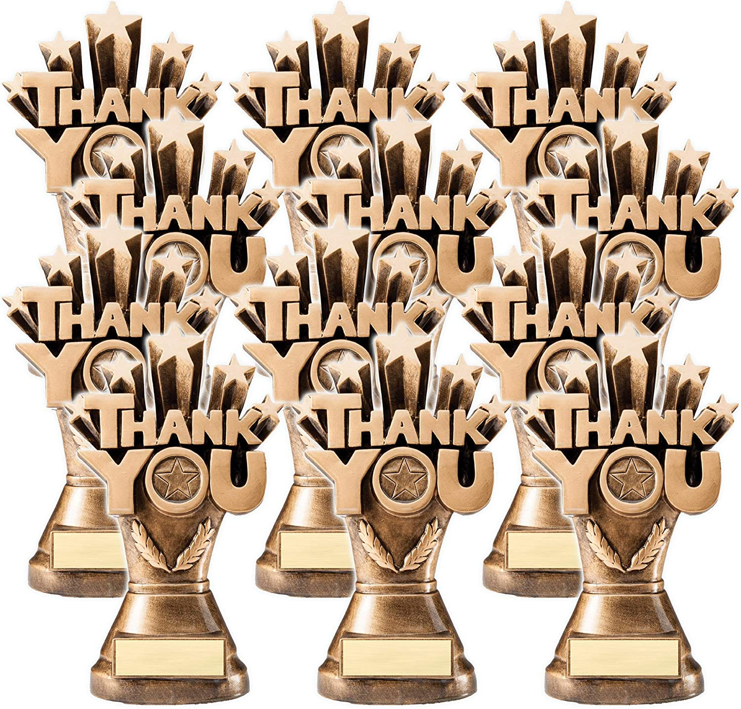 On Top Awards Thank You Trophy Award Resin 8.25 Tall