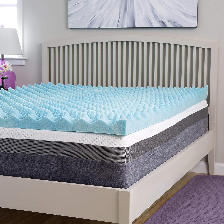 Slumber Perfect Big Bump 4-inch Gel Memory Foam Topper Twin