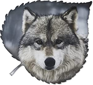Metal Wall Art - Wolf Head Hanging Wall Decor - Handmade in the USA for Use Indoors or Outdoors