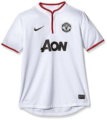 Nike manchester united - Camiseta de fútbol sala para niño, tamaño M, color blanco: Amazon.es: Deportes y aire libre