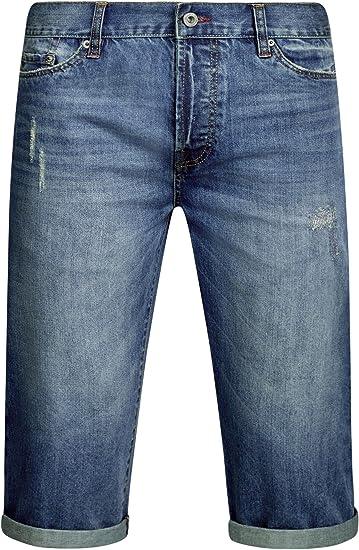 oodji Ultra Hombre Pantalones Cortos Vaqueros, Azul, W36 / ES 48 ...