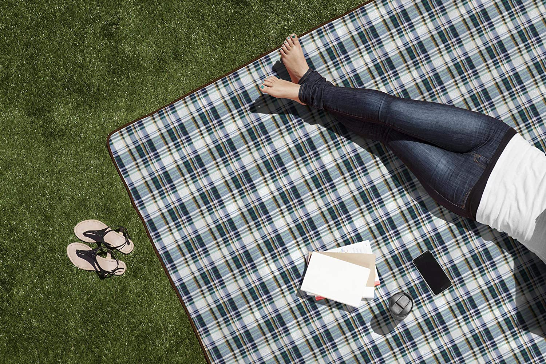 XL blau gestreift blau gestreift Picknick Zeit Outdoor Picknickdecke XL