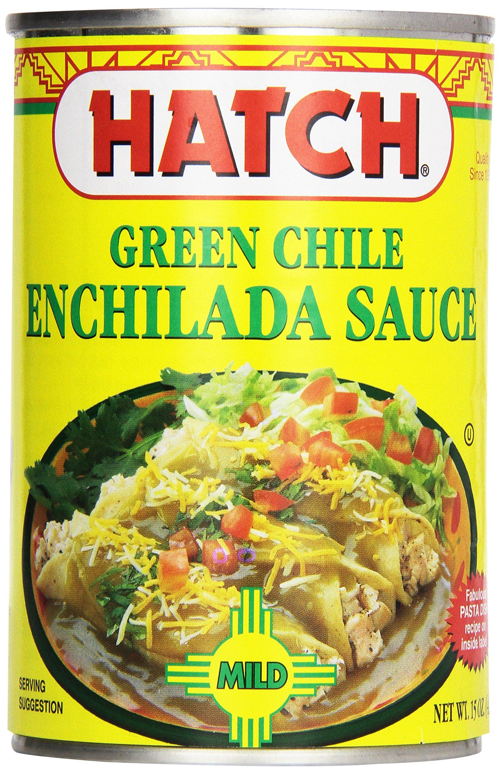 Hatch Farms Mild Green Chile Enchilada Sauce 15oz.(pack of 12)