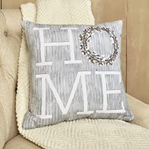 "The Lakeside Collection Cotton Boll Furniture Accent Pillow - Home - Farmhouse 17"" Throw Cushion"