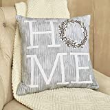 Amazon Com The Lakeside Collection Cotton Boll Accent Pillow With Country Blessed Sentiment Message Home Kitchen