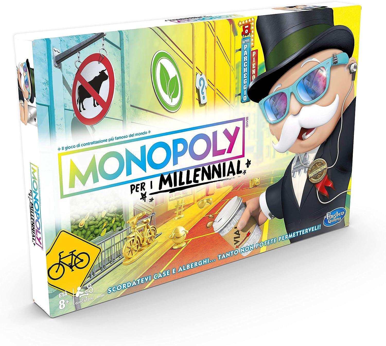 Hasbro Gaming - Monopié para Millennials Juego de Mesa Versión Italiana Multicolor: Amazon.es: Juguetes y juegos