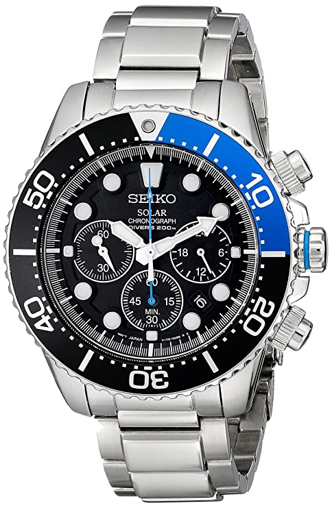 Seiko SSC017 solar-powered chronograph