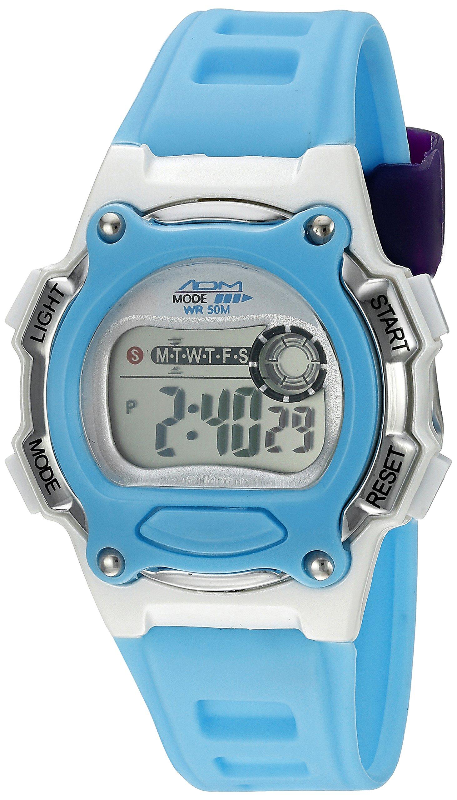 American Design Machine Jr. Kids' ADSG 5002 BLU Madison Digital Display Japanese Quartz Blue Watch