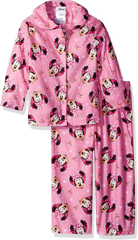 Disney Girls/' Minnie Mouse 2-Piece Pajama Coat Set