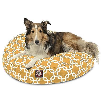 Amazon Com Yellow Links Medium Round Indoor Outdoor Pet Dog Bed