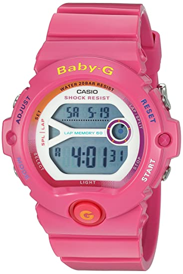 1127db7be7fad Image Unavailable. Image not available for. Color  Casio Ladies Baby-G  Digital Sport Quartz Watch ...