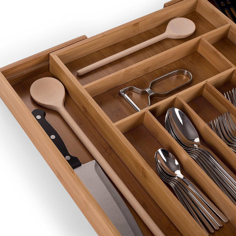 Marie Kondo Boxen Aufräumen Aufräumsystem Besteck Schublade Ordnung Küche Gabel Messer Löffel