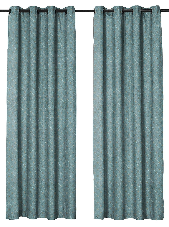 Blue Curtain Panel Solid Jennifer Taylor Home 50 x 84 50 x 84 8700-0121-71