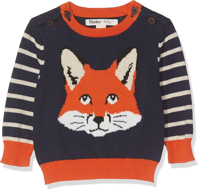 Herstellergr/ö/ße: 3M-6M Blau 3-6 Monate Hatley Baby-Jungen Sweater Pullover Clever Fox 400