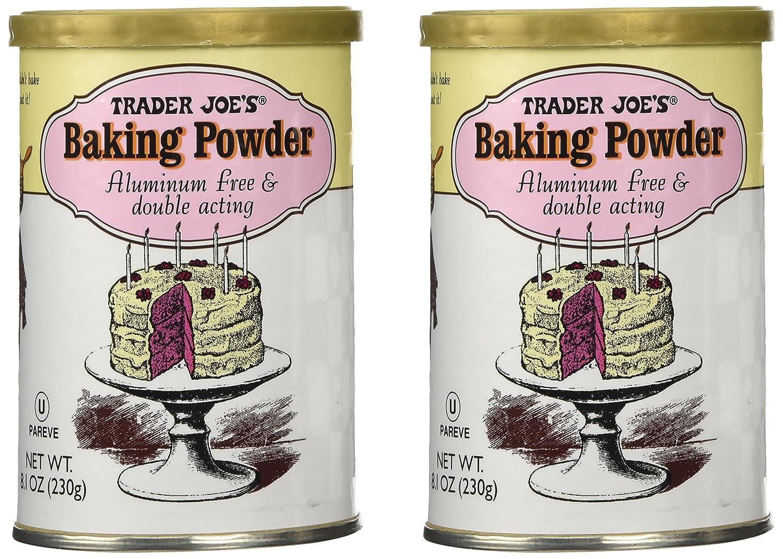 Trader Joe's Baking Powder Double Acting 8.1 Oz (Pack of 2)