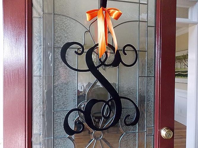 Front Door Monogram Wreath Spring Wreath Summer Wreath Wreaths For Front  Door