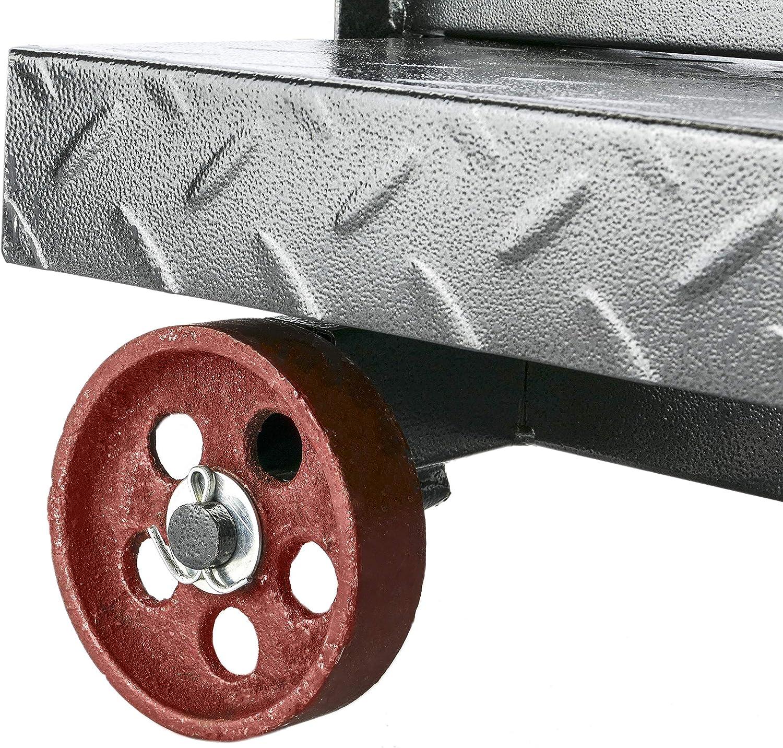 PrimeMatik Balance Industrielle avec la Plate-Forme 60x80 cm 800 Kg avec Roues