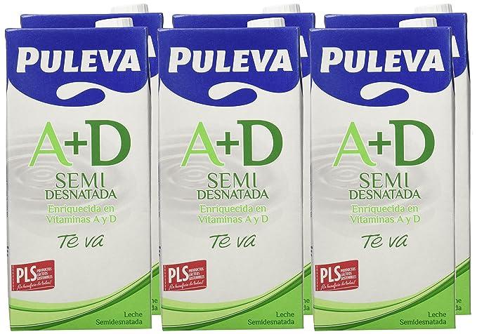 Puleva Leche Semidesnatada Vitaminas A+D - Pack de 6 x 1 l - Total: 6 l: Amazon.es: Amazon Pantry