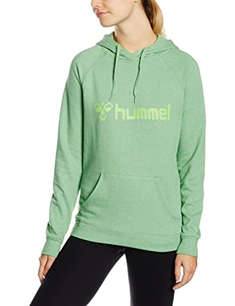 57b24223 Hummel Damen Sweatshirt Classic Bee Hoodie Green Flash Melange, XS
