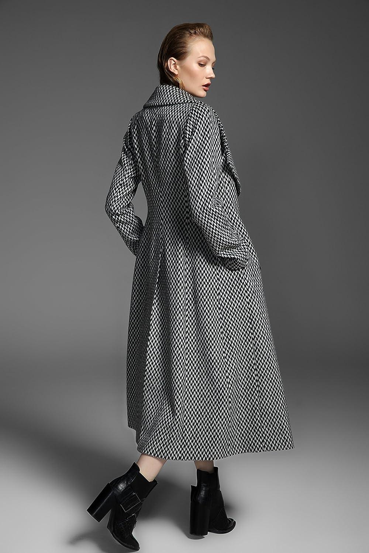 YueSpace Womens A-line Long Sleeve Casual Wool Coat