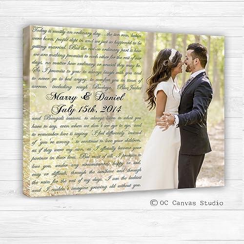 Amazoncom First Dance Lyrics Custom Canvas Your Wedding Photo