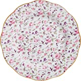 "Royal Albert Rose Confetti Salad Plate, 8.2"", Mostly White with Multicolored Floral Print"