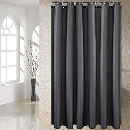 YUUNITY Shower Curtain Polyester Fabric Mildew Resistant Anti Bacterial Non Toxic